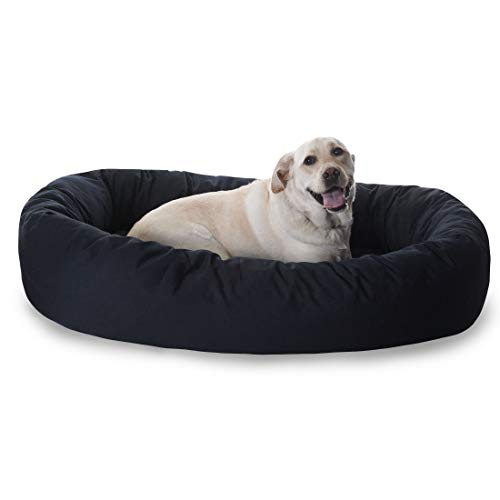 52 inch Black Bagel Dog Bed By Majestic Pet Products