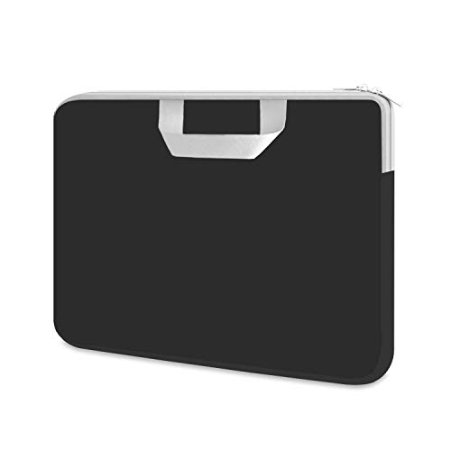 HESTECH 11.6-12.3 Chromebook Case,Laptop Sleeve Neoprene Carrying Bag Handle for Acer/HP Stream/Samsung/ASUS C202 L210/Microsoft Surface Pro 7/6/5/4/3 Go,13 inch MacBook Air/Pro,Dell XPS,Black