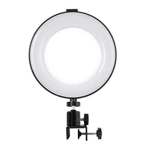 Selfie Light 6'' Luz de Anillo Círculo para Computadora Portátil, Iluminación de Llamadas de Zoom con Clip, 3 Modos 11 Niveles de Brillo Círculo Halo Light Maquillaje ( tamaño : 6in ring light )
