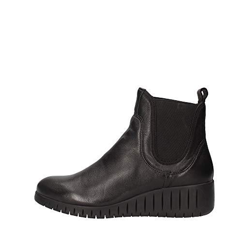 Marco Tozzi 2-2-25442-25 Leder Chelsea Boot, Bottine Femme, Black Ant.Comb, 36 EU
