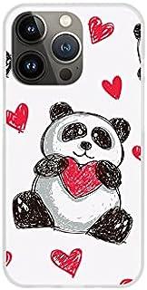 Etui na Apple iPhone 13 Pro - etui na telefon Fantastic Case - panda z sercem - guma case obudowa silikonowa wzory