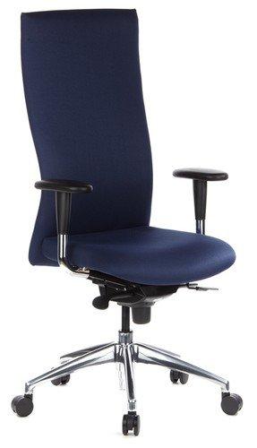 hjh OFFICE 710502 Profi Bürostuhl Office-TEC Stoff Blau Chefsessel ergonomisch, hohe Rückenlehne