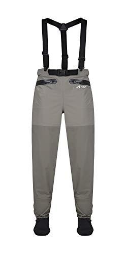 KINGBLUE Heron Waterproof Breathable Stockingfoot Waist Pants Wader with Detachable Suspenders (Large)