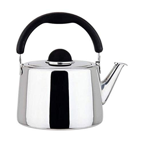 Tea Kettle Whistling Stovetop Kettles Stainless Steel Whistling Tea Kettle Traditional Stove Top Kettles Teakettle Teapot With Black Ergonomic Handle Induction Cooker Gas Stove Whistle Kettle Tea Kett