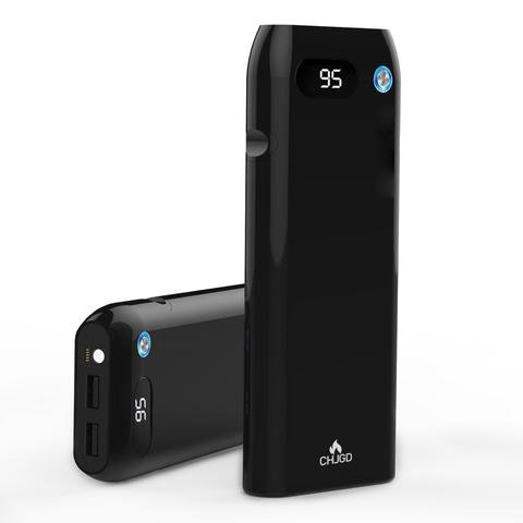 21000 mAh Portable Charger/Power Bank/External Battery with Quick Charge 3.0 - CHJGD Magnum Opus Qualcomm Quick Charge 3.0 LCD Display for Samsung, iPhone, iPad and more.