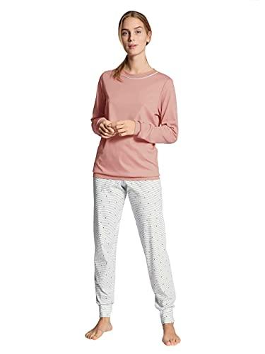 CALIDA Damen Sweet Dreams Pyjamaset mit Bündchen 2 Zweiteiliger Schlafanzug, Rose Bud, 42