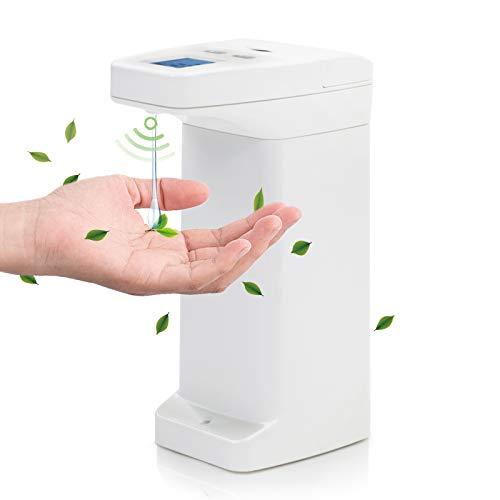 Zeewoo Dispensador Jabon Automático con Sensor, Dosificador Jabon Sin Contacto para Baño Cocina Hotel Oficina, Interruptor Ajustable, 350ml, Plástico, Blanco
