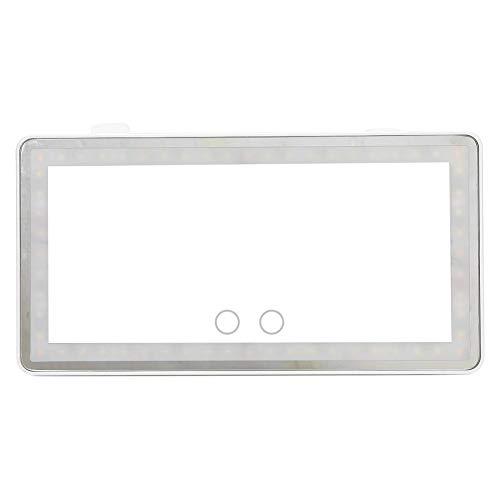 Miroir de vanité de maquillage de voiture de lumière de LED 2 couleurs, miroir solaire cosmétique portatif de miroir de maquillage d'ombrage d'automobile rechargeable d'USB avec le contact intelligent