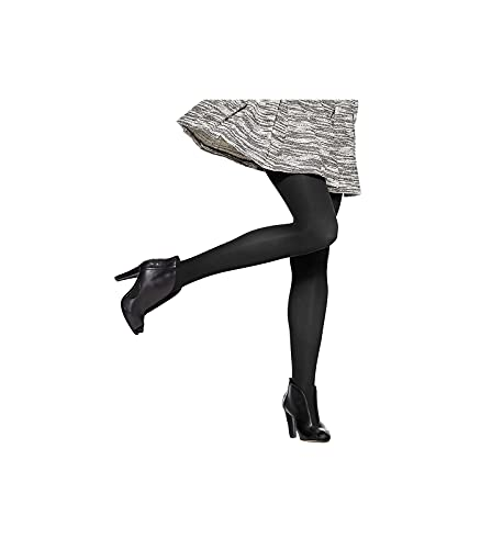 Hue Women's Opaque Tight Sheer To Waist, Black , 4