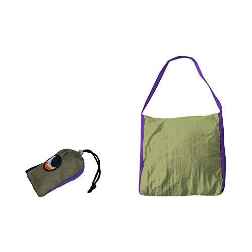 マーケットバッグ (カーキ/パープル)