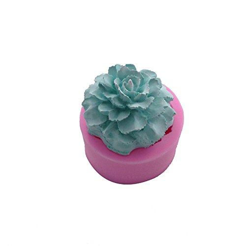 September Nelke Blume Form Silikon Fondant handgefertigte Seife Formenbau Kuchen dekorieren Kerze Formenbau