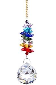H&D 30mm Chandelier Crystals Ball Prisms Rainbow Octogon Chakra Suncatcher for Gift