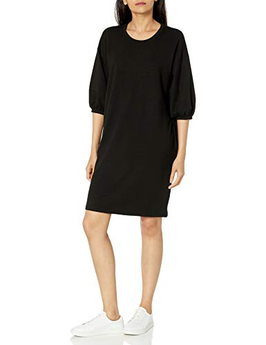 The Drop Women's Estelle Puff Sleeve French Terry Sweatshirt Mini Dress