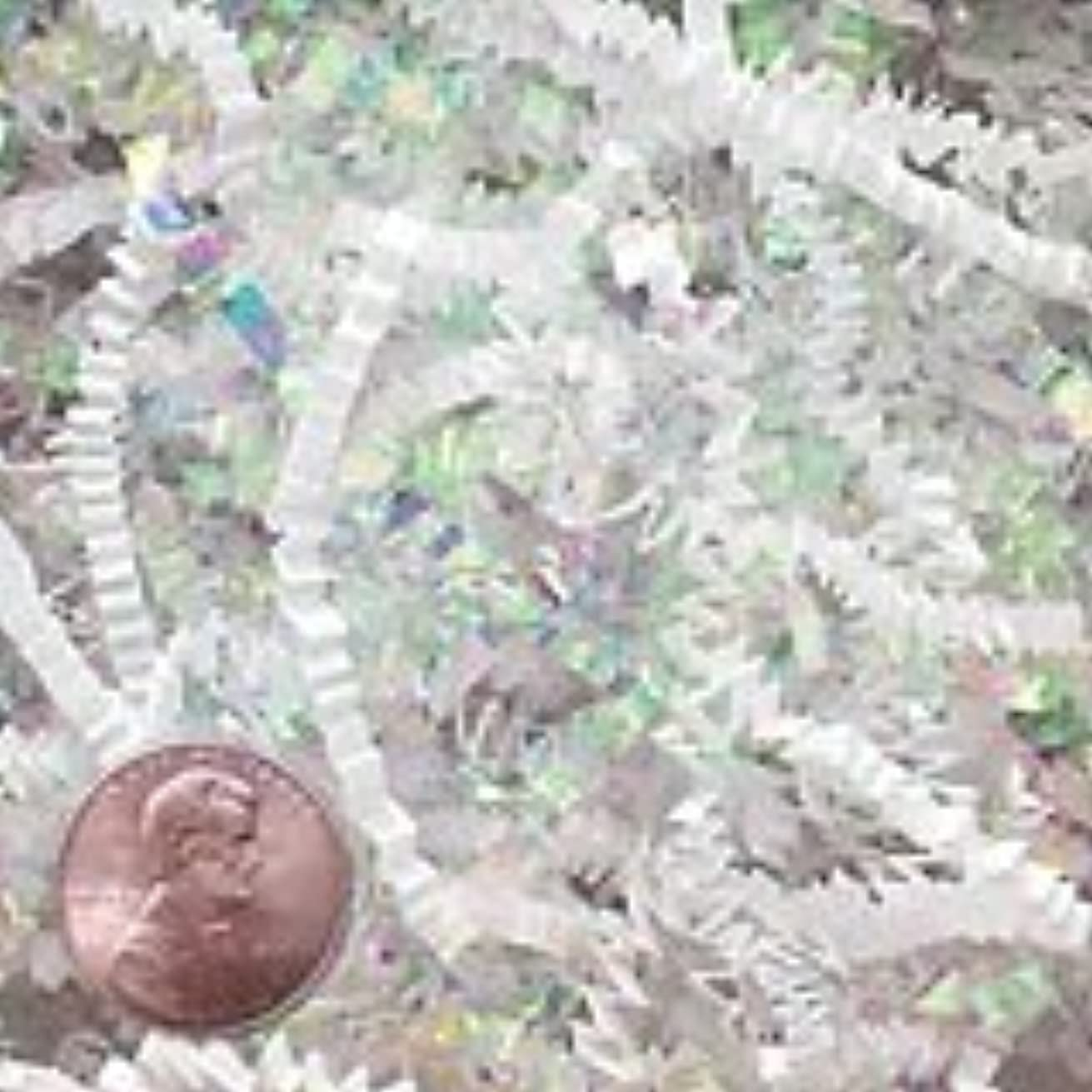 Krafty Klassics 1/2 lb (8oz) White Metallic & Iridescent Fancy Blended Shred