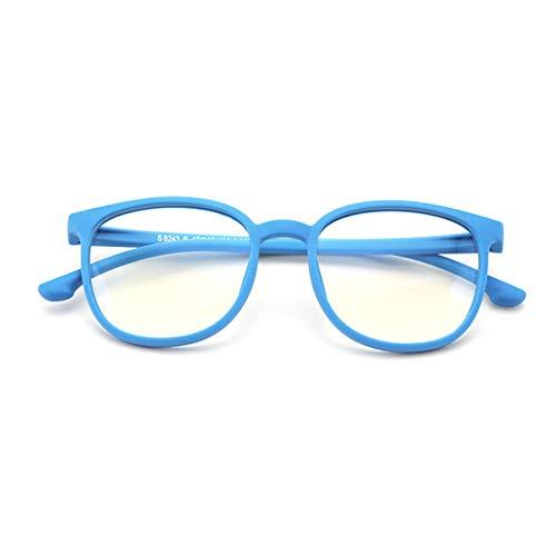 Brillen Brillengestell für Kinder Korrekturbrillen Anti Blaulicht Klare Linse für Jungen und Mädchen von 6-12 Jahren