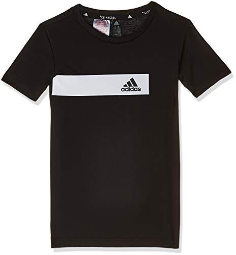 adidas - Fitness-T-Shirts für Jungen in Black, Größe 128