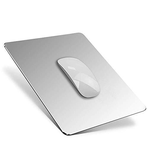 YiYunTE Alfombrilla de Ratón Aluminio Gaming PC Alfombrilla para Ratón Metalica Mouse Pad con Base PU Goma Impermeable Cojín de Ratón Lavable Antideslizante Mousepad para Ordenador Portátil Oficina
