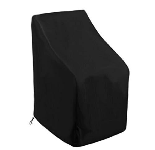 YJF Funda para Silla apilable con ventilación, Impermeable, a Prueba de Viento, Anti-UV, Resistente a rasgaduras Funda de Tela Oxford 420D reclinable para Silla de jardín (89 x 89 x 120)