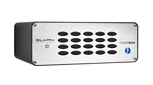 3 of the best external hdds for music production - Glyph Studio RAID Thunderbolt 2 SRTB4000 4TB External Hard Drive RAID 0, 1 or JBOD (7200RPM, Thunderbolt 2, USB 3)