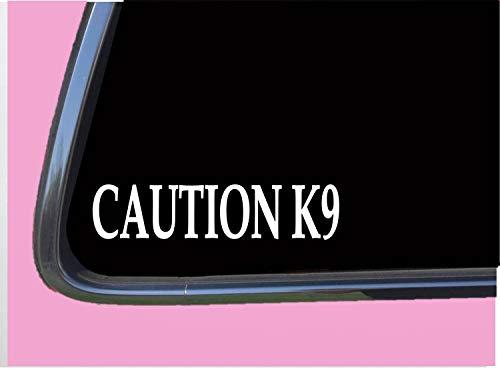 Decal-Caution K9 Aufkleber tp Polizei Aufkleber Malinois Deutscher Schäferhund Maulkorb Abzeichen Abnehmbarer Vinyl Aufkleber 15,2 cm