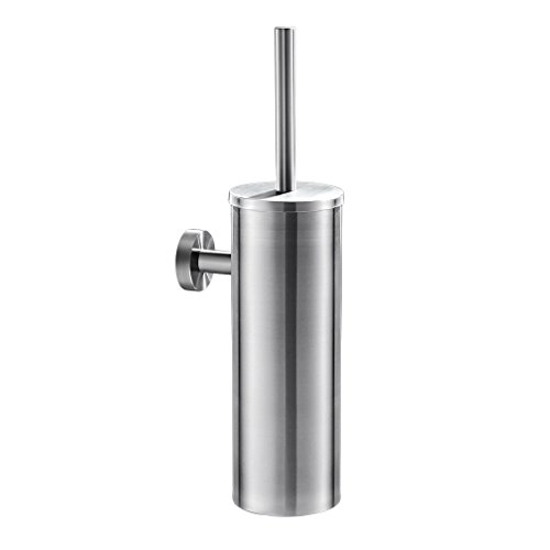 Auralum Designer Klobürste mit Wandbefestigung aus Edelstahl, Toilettenbürste fürs WC, Gästebad, Badezimmer