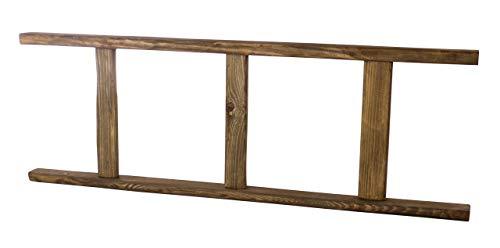 Kontorei 1x leuke houten ladder in natuurlijke, donkere tint, kan je prima decoreren, beplanten of ook als garderobe gebruiken, nieuw, 100 cm