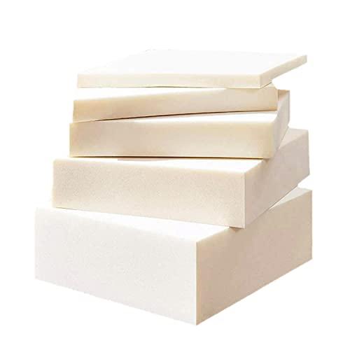 Xpnit Espuma para tapicería, 3/5/8/10 cm, hoja de espuma de alta densidad, cojín de repuesto para sofá, comedor, jardín, cojín de espuma para asientos (40 x 40 cm, 3 cm)