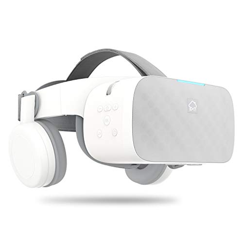 Portable VR Headset Standalone Virtual Reality Smart Wearable Headset With Dual Integrated Headphone, Support TF Card, WiFi and Bluetooth 4.1 Multiple Entertainment Features, 2G RAM+16G ROM