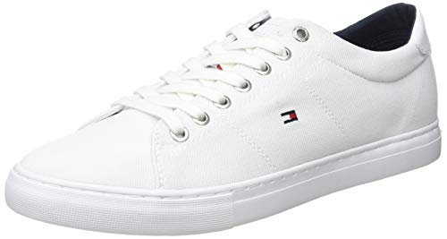 Tommy Hilfiger Herren Seasonal Textile Sneaker, Weiß (White Ybs), 44 EU