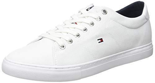 Tommy Hilfiger Seasonal Textile Sneaker, Zapatillas para Hombre, Blanco (White Ybs), 44 EU