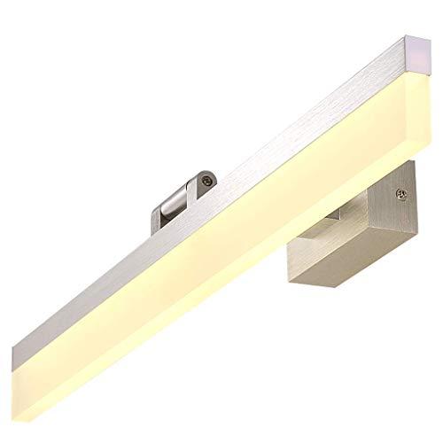 Badspegel ljus Mirror front ljus ledde badrum ljus dressing bordslampa spegelskåp belysning (Color : Warm white light, Size : L)