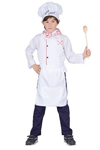Fiori Paolo 61230.L - Little Chef Costume Bambino, Bianco, 7-9 anni