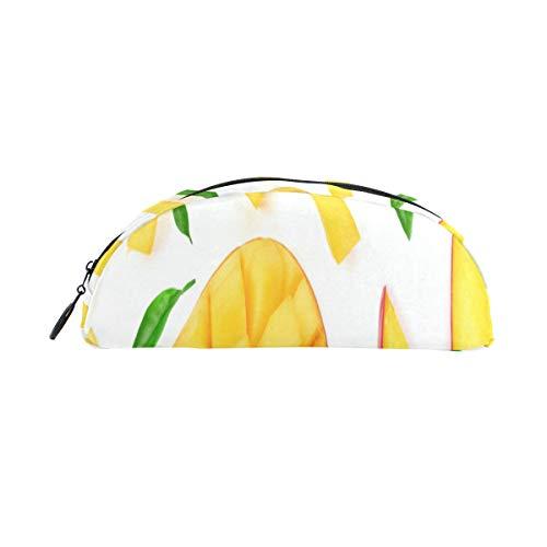Case Vape Pen Mango Slice Tropical Fruit Pen Bag Organizer Pencil Case Pouch Bag Zipper for Students Class Kids Boy Girl School Best Pencil Bag