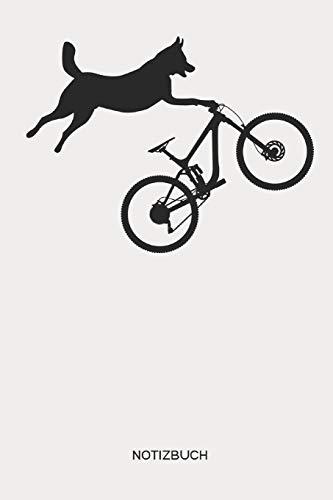 Notizbuch: Mountainbike MTB Hunde Notizbuch   Geschenk für Mountainbiker, Radsportler, Fahrrad Fans,Hundebesitzer und Hunde Fans, Kinder, Frauen und Männer