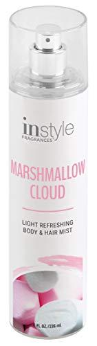 Instyle Fragrances | Body & Hair Mist | Marshmallow Cloud Scent | With Panthenol | CLEAN, Vegan, Paraben Free, Phthalate Free | Premium 8 Fl Oz Spray Bottle