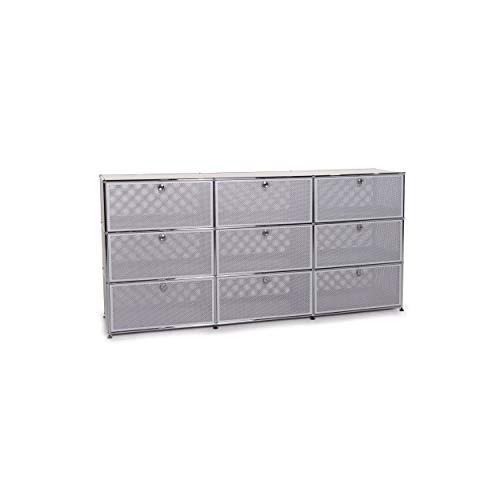 USM Haller Metall Sideboard Grau Silber Büro #12075