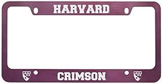 Harvard University -Metal License Plate Frame-Pink