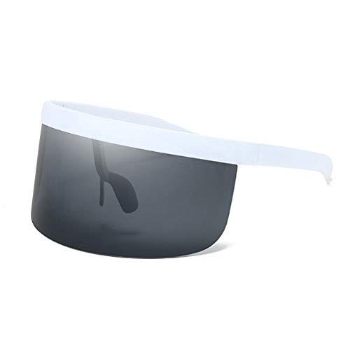 Übergroße 9 Style Sonnenbrillen 2020 Frauen Männer Cross-Ära Sonnenbrillen Luxusbrillen Big Shades Shield Visier Sonnenbrillen UV-Schutz Winddichte Brille mit flacher verspiegelter Linse für