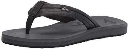 Quiksilver Men's Carver Squish Flip-Flop, Grey/Black, 13 M US
