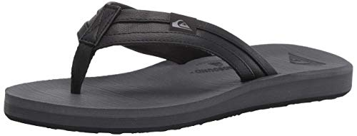 Quiksilver Men's Carver Squish Flip-Flop, Grey/Black, 6(39) M US