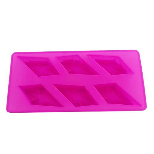 Moule à gâteau en silicone en forme de flocon de neige - Pour muffins, chocolats, biscuits, décoration rose vif