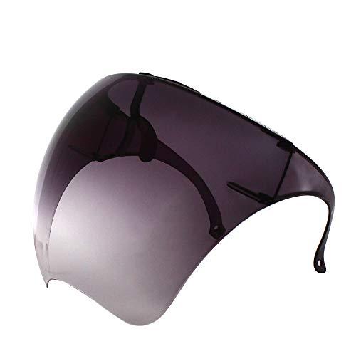 Futuristische Sonnenbrille, groß, verspiegelt, Unisex, flaches Visier für das gesamte Gesicht (1 Paar) (schwarzer Farbverlauf)