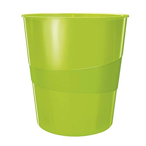 Leitz Papierkorb WOW 15L, Grün, 15 Liter