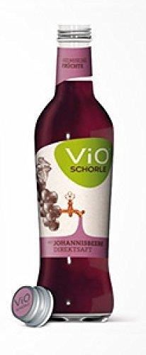 24 Flaschen a 300ml Vio Schorle Schwarze Johannisbeere inclusive 3.60€ MEHRWEG Pfand Glas