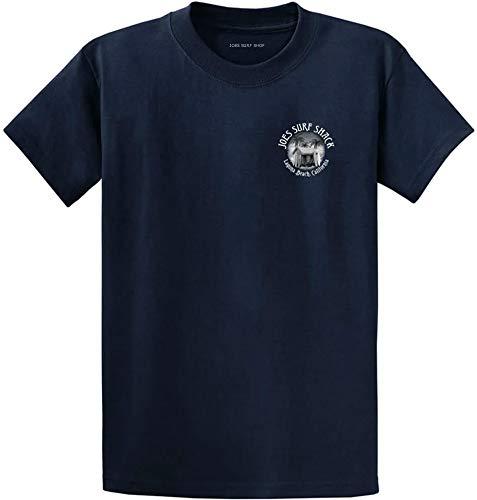 Joe's Surf Shack Vintage Logo Heavyweight Cotton T-Shirt-Navy/w-5XL