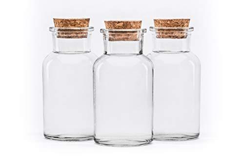 10 oder 20 Stück 250 ml Glasbehälter Glasflasche mit Korken Verschluss rund 0,25 liter l leerer Glasbehälter Vorratsdosen Vorratsgläser, Gewürzgläser Glasflaschen Flaschen Gewürzdosen Bonbongläser Einmachglas Korkgläser Korkflaschen Korkdosen Eingemachtes mit Kork-Verschluss von slkfactory.