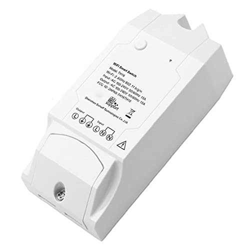 Obelunrp Interruptor de Humedad de Temperatura TH16 Sensor WiFi Sensor Sensor Control Remoto para DIY Home