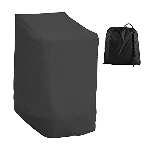 Jetcloud Garden Stacking Chair Cover Waterproof 210D Oxford Fabric Reclining Heavy Duty Patio Chair Cover Furniture Protective Cover for Outdoor Patio Garden