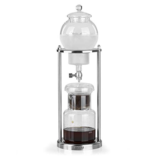 BEEM Cold Drip Kaffeebereiter - 0,6 l | Classic Selection | 11-teilig | Glaskaraffe | Doppelter Edelstahlfilter | Verstellbarer Dripper