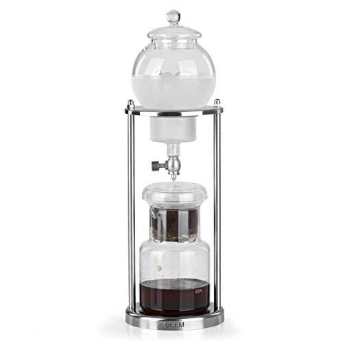 Beem Cold Drip Caffettiera – 0,6 l | Classic Selection | 11 pezzi | Caraffa in vetro | Doppio filtro in acciaio inox | Dripper regolabile